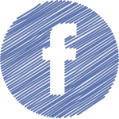 facebook button round