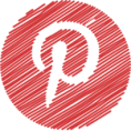 pinterest button round