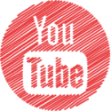 you tube button round