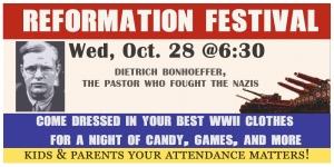Reformation Day festival 2