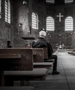 old man praying