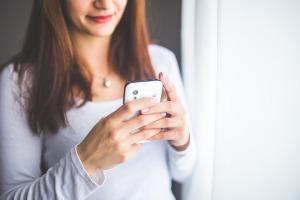 woman free smart phone