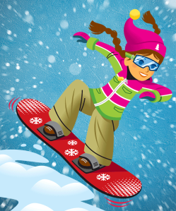 girl-snow-boarding
